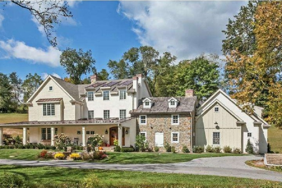For Sale 1850s West Chester Farmhouse With Kitchen Hearth