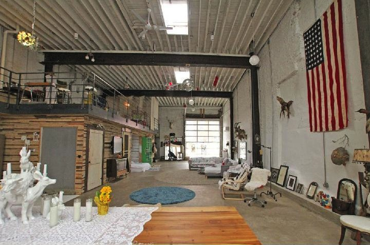 Sold doub hanshaw s incredible free people garage loft for How much to build a garage with loft