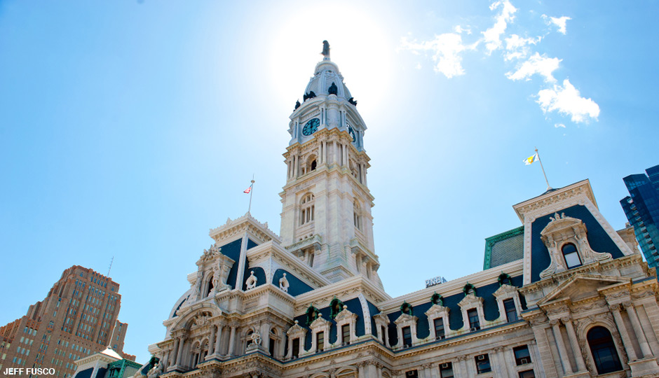 Sunlit Philadelphia City Hall