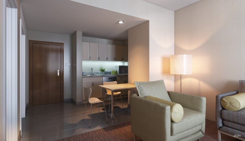 Doubletree Extended Stay rendering
