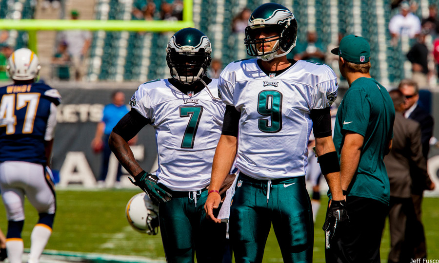 Eagles QB Mike Vick and Nick Foles