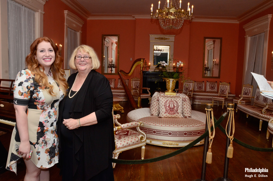 Emily Afflitto, Site Manager at Historic Strawberry Mansion and Beth Kowalchick, President The Commitee of 1926 and Historic Strawberry Mansion, in the restored living room. Back in the day, wealthy Philadelphia families had summer cottages along the Schuylkill river. One of the more outstanding mansions was built by Judge William Lewis, and was known as the Lewis mansion, and then Strawberry Mansion. Judge Lewis was a contemporary of George Washington and Alexander Hamilton and drafter of An Act for the Gradual Abolition of Slavery. (Pennsylvania was the first state to abolish slavery.)