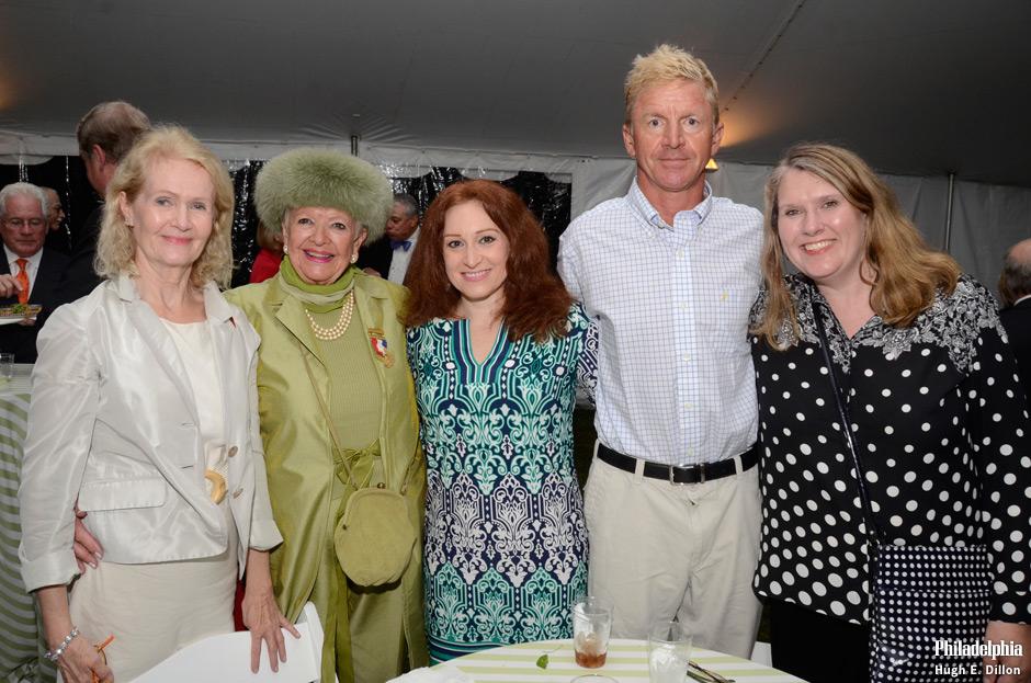 Kerstin Hoeldtke, Mrs. Katarina Sheronas, corresponding secretary of Board of Directors, Kym Sheronas, Peter Sheronas, and Diana Brown