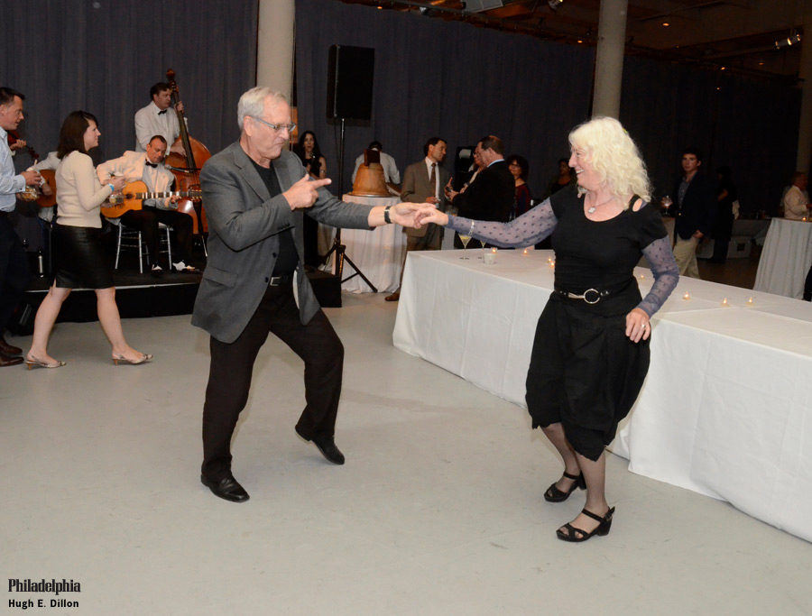 Judy Wicks and Craig Johnson open up the dance floor