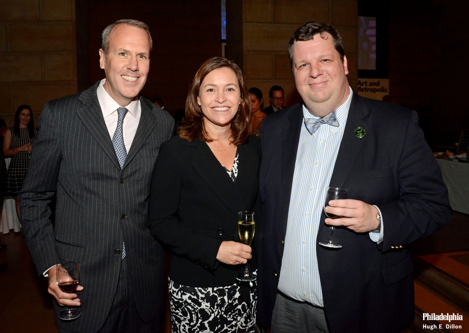 Reg and Michelle Archambault with Shawn Martin, Young Friends Executive Board Co-Chair. (along with Gabriela Guaracao, not pictured here.)