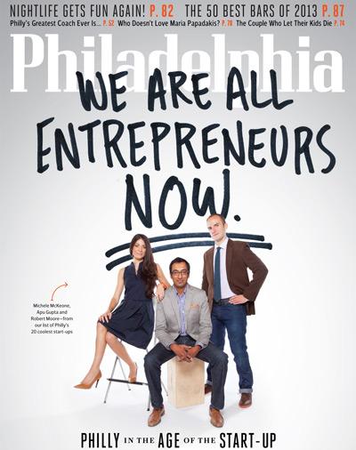 November Philadelphia Magazine Cover Start-Ups