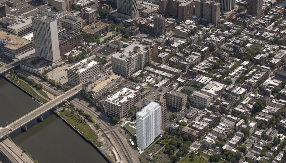 Rendering of One Riverside Park via Dranoff Group.