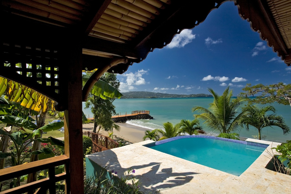 Calabash Cove in St. Lucia. Tempting, isn't it?