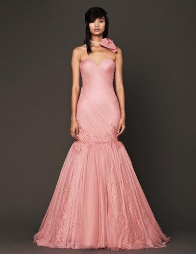 Vera Wang\'s Pink Fall 2014 Bridal Collection | Vera Wang Wedding ...