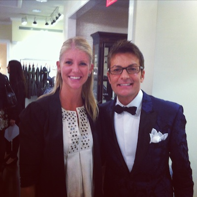 That's me and Say Yes to the Dress's Randy Fenoli at the opening of Elizabeth Johns in Ardmore last October in a photo that I am always happy to repost, as he was darling, and so much fun to hang out with.