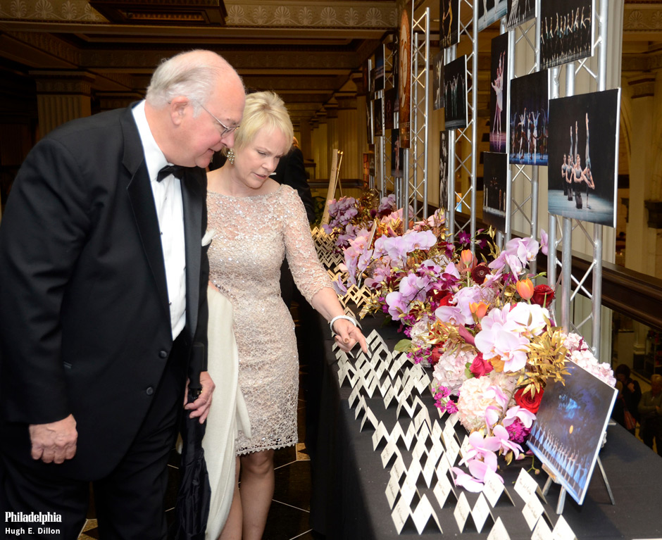 Pennsylvania Ballet opened its 50th anniversary season with a celebration of pure, luxurious beauty with the company premiere of George Balanchine's Jewels last week at the Academy of Music, and on Saturday they celebrated with their 50th anniversary gala at the Crystal Tea Room.