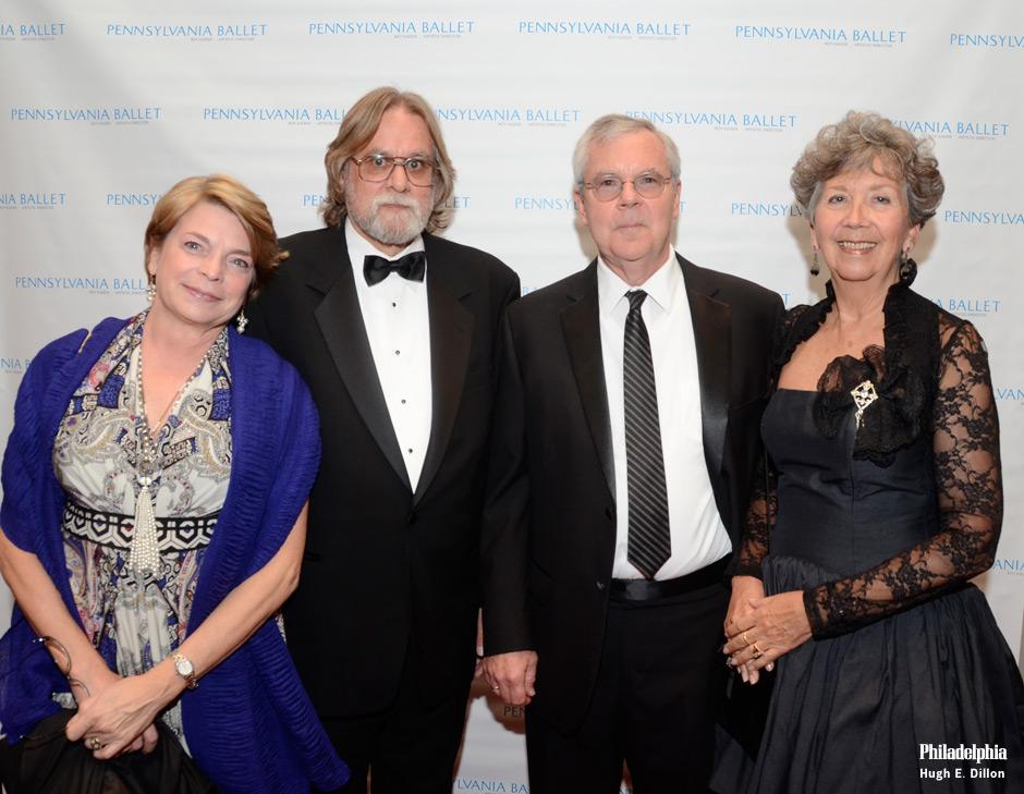 Below, from left: Anya Patton Ward, Edward LaFontaine, Mark Ward and Gretchen Ward Warren.