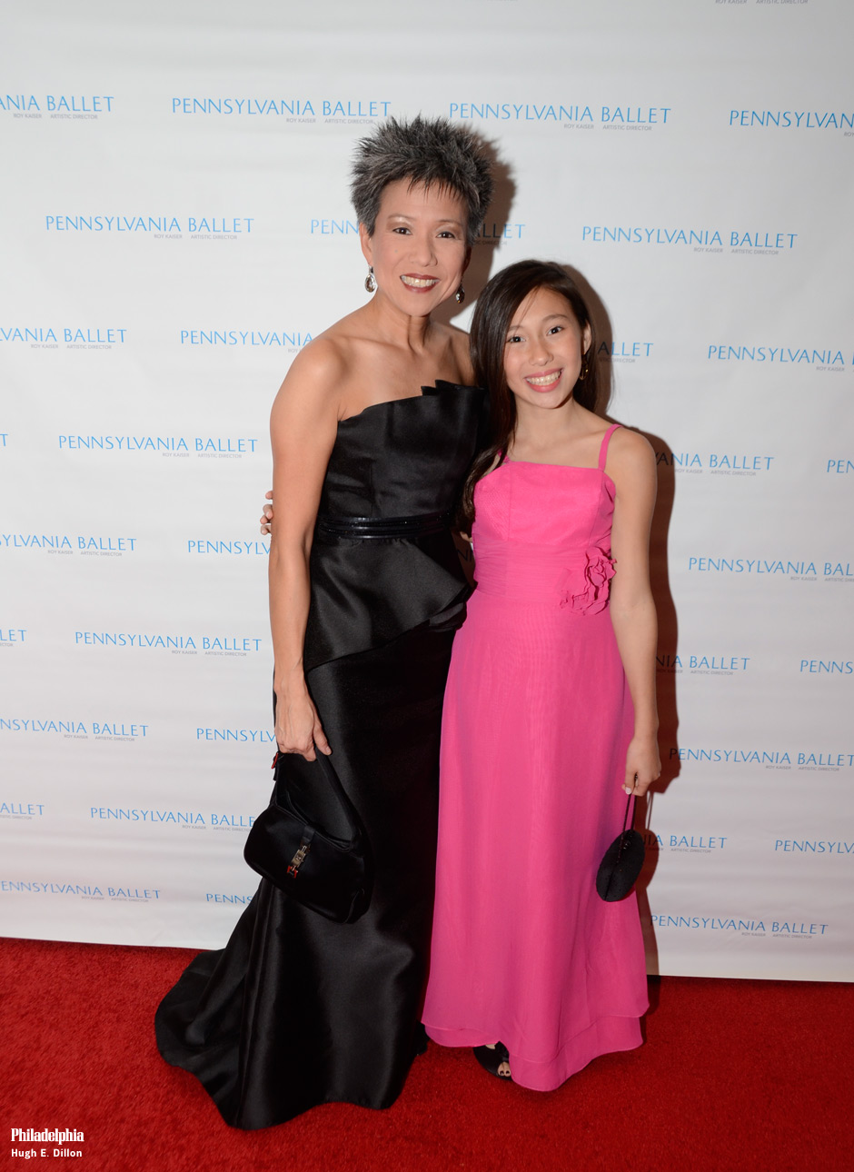 Susan Jin Davis and Sophia Malatesta. Sophia was so excited to experience her first gala.