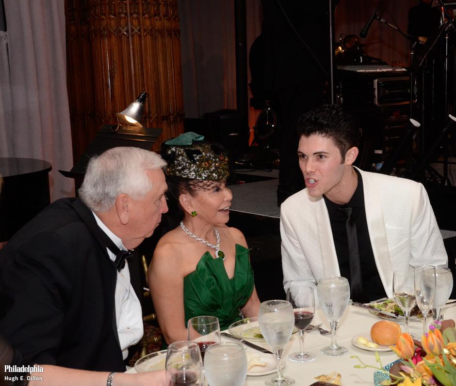 Phil and Rita Harper listen as Edward Barnes, Dancer With Pennsylvania Ballet