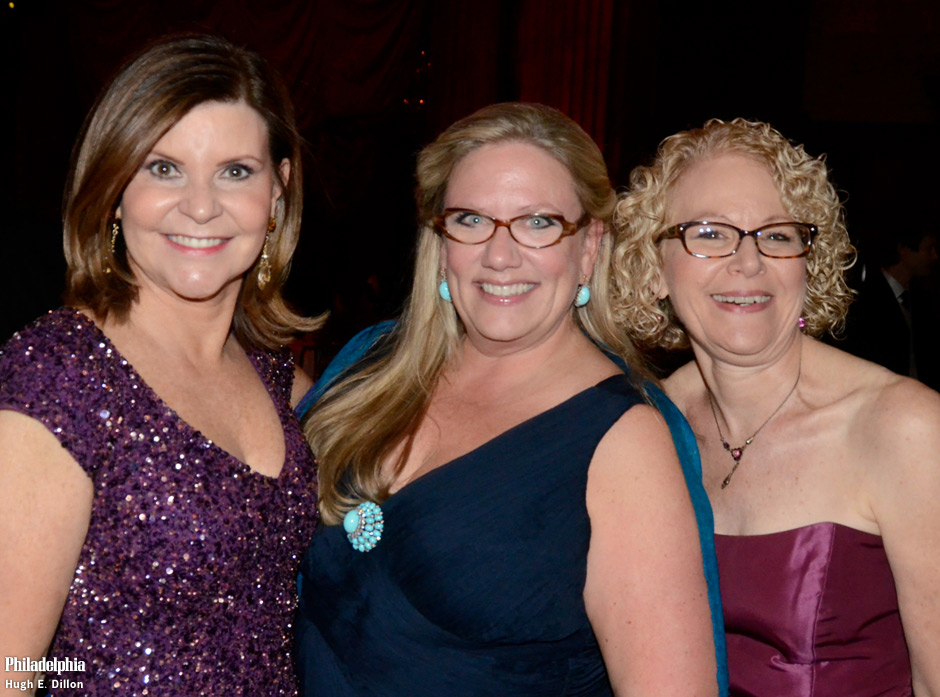 Peg Fitzpatrick, Board Member of the Pa Ballet, Georgiana Noll, Board Member at The Philadelphia Charity Ball and Jane Kamp, Director of Development at Annenberg Center for the Performing Arts
