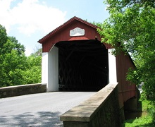 Van_Sant_Covered_Bridge via Wikimedia Commons - Taken by Michael H. Parker