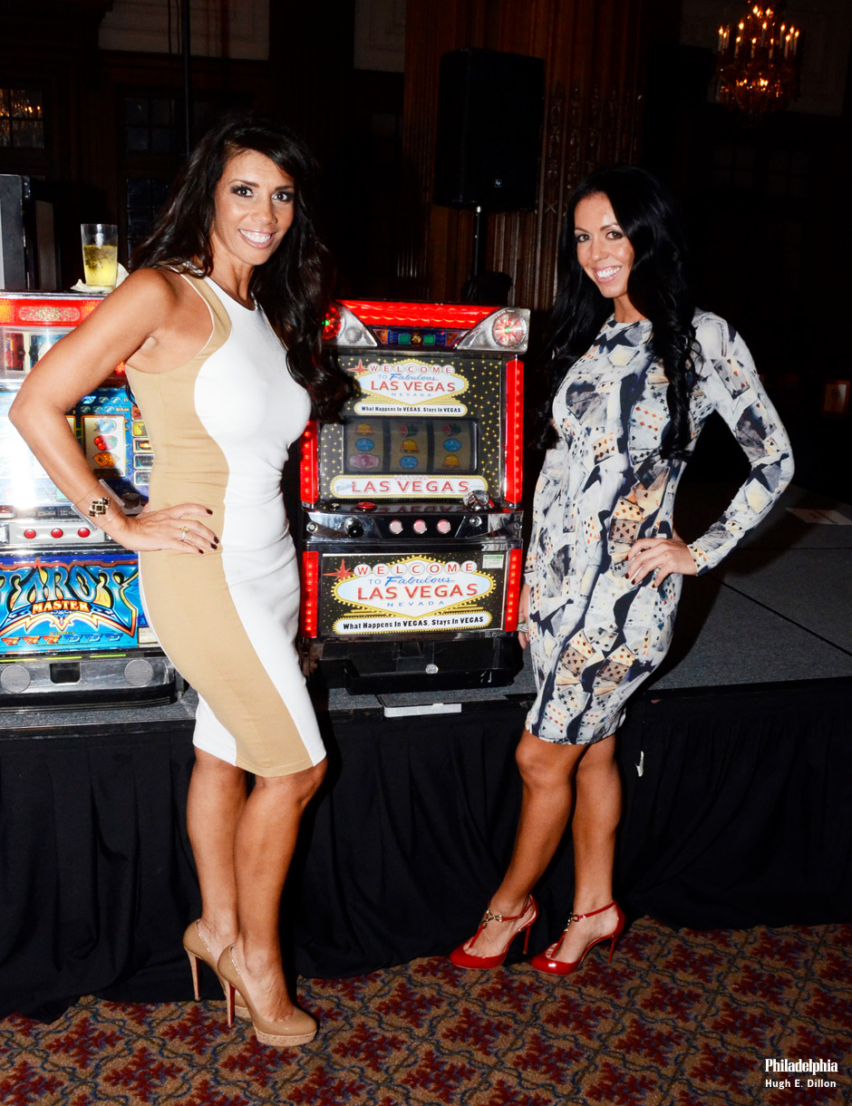 Aida Sparta, Administrative Coordinator - Comcast Spotlight and Stacey Kracher, Director of Marketing at Zarwin Baum try their luck at the slot machines. Stacey told me they moved casino night out of their offices and into the Crystal Tea Room after they received so many inquires to attend the event. This year nearly 400 people attended.