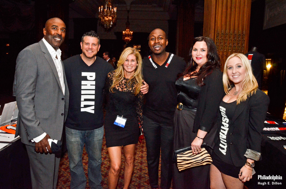 Mike Quick, Eagles radio analyst, Scott Groomsman, Jennifer Carroll, Brian Taylor, ‎Director of Nightlife Services Zee Bar, Madison Alpern, Marketing/PR at Chip Roman Restaurants and Jasmine Nieves