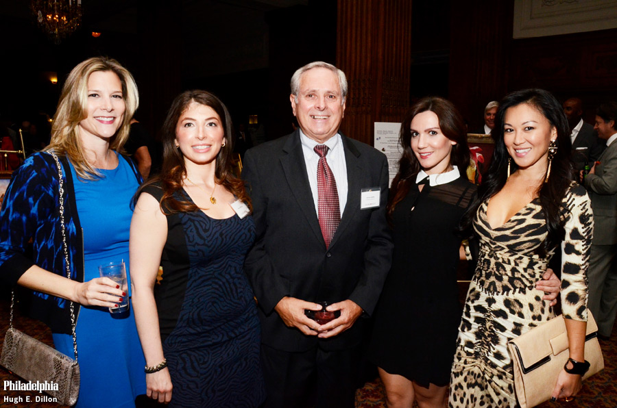 Kimberly Tirndal, Donna Marcus, Bill Miflin, Ledia Leka and Jin Hee Park. Bill tells me that the 2013 Vision for Philadelphia Award. honoring Dr. Keith Leaphart on November 18, 2013. at The Union League of Philadelphia.