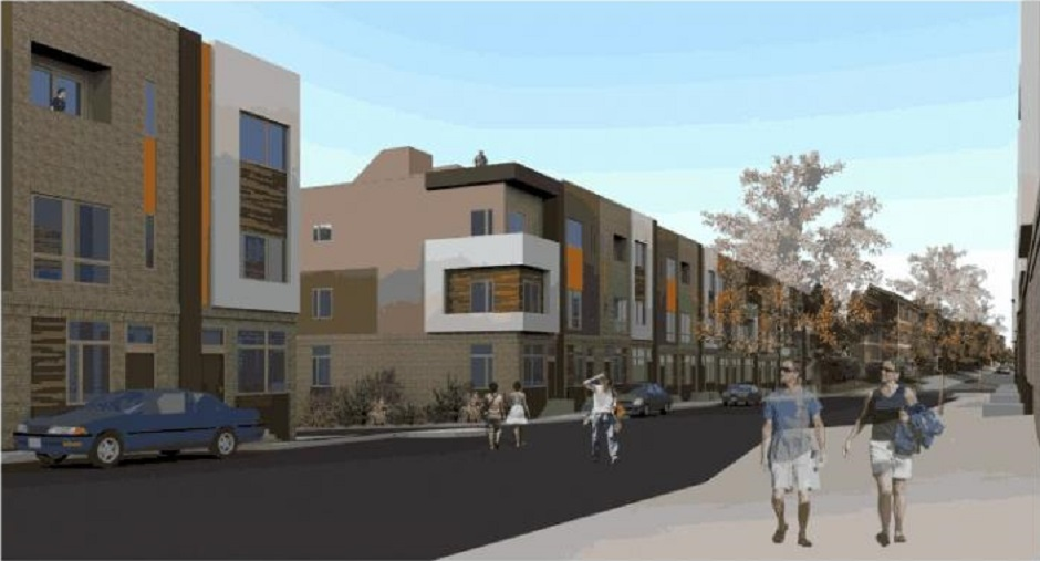 BridgeView townhomes rendering via PlanPhilly