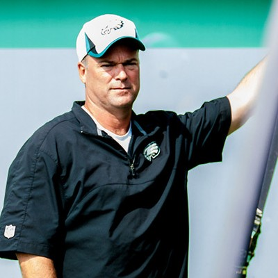 Eagles Defensive Coordinator Bill Davis in thought