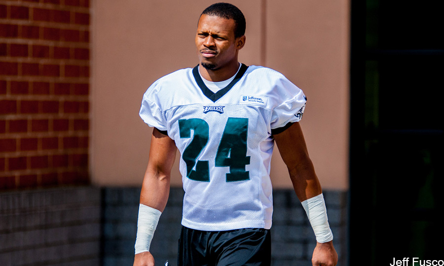 Eagles Cornerback Bradley Fletcher Helmet off