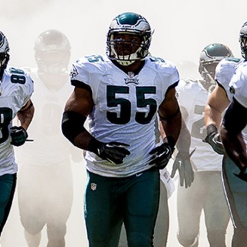 Eagles LB Brandon Graham running out with team