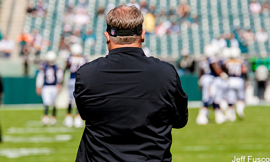 Eagles Coach Chip Kelly Facing Field