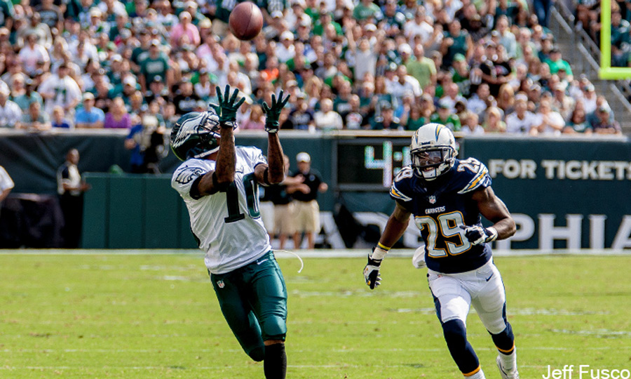 Eagles WR DeSean Jackson catch against Chargers