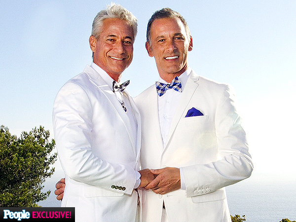 Olympic diver Greg Louganis and his boyfriend Johnny Chaillot tied that night this weekend in Malibu. Click the headline below for more details.