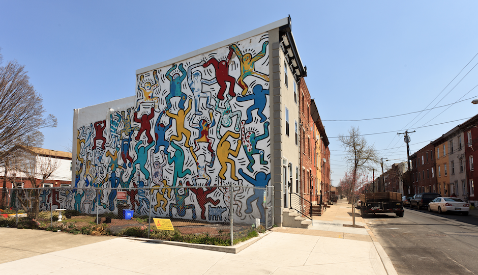 keith haring mural philadelphia restored