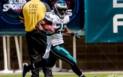 LeSean McCoy alone running with football