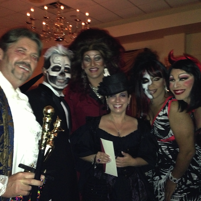 Brittany Lynn with revelers at last year's Peter Sterling Ball.