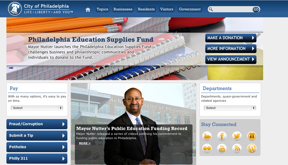 phila.gov homepage