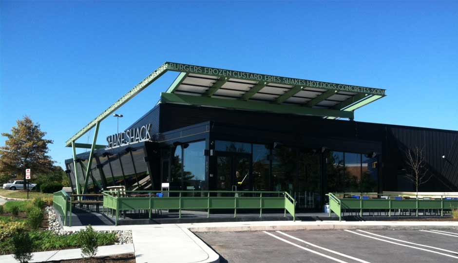 Solar powered Shake Shack opens in King of Prussia.