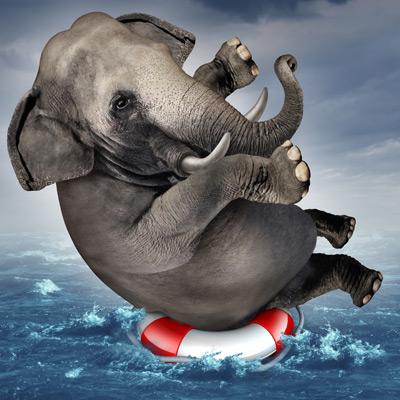 GOP Elephant sinking