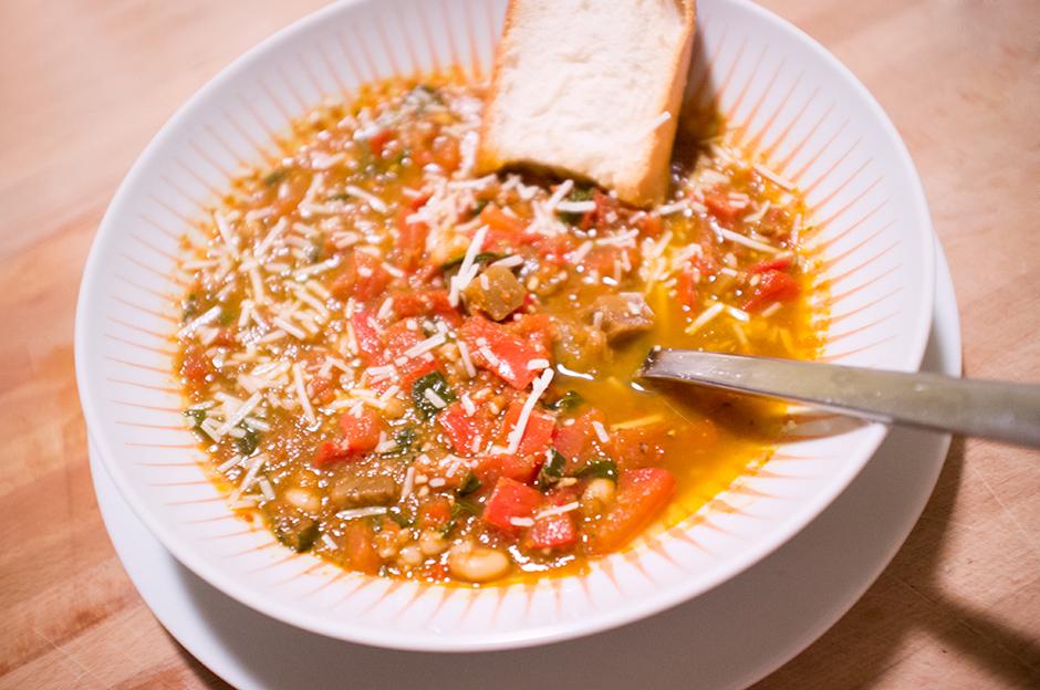 20-Minute Dinner: Leftover Bruschetta Soup | Be Well Philly
