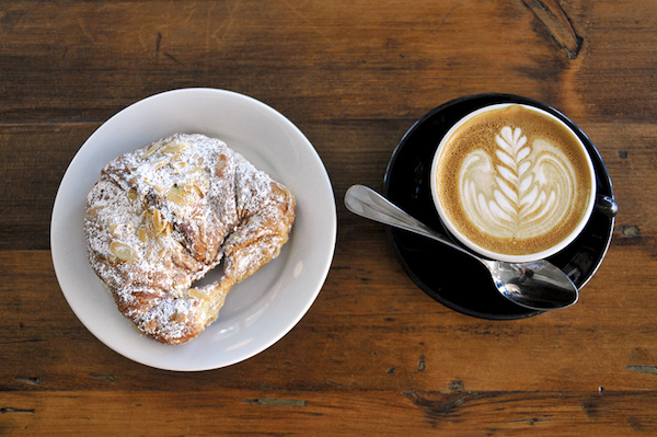 A cappuccino and pastry at Shot Tower in Queen Village. Photo courtesy of Ian Watson.
