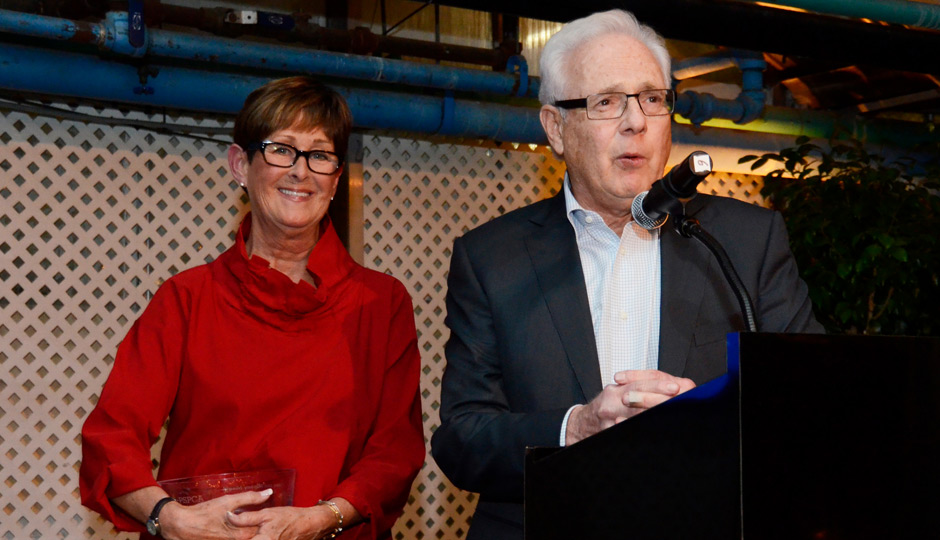 The evening's other honorees were Mickey and Larry Magid, who have collaborated with PSPCA board member Jen Utley and her husband, Phillies second baseman Chase Utley, to host the successful annual Utley All-Stars Casino Night at Magid's Electric Factory. The Magids also talked about the importance of giving a forever home to their two dogs who they adopted through the PSPCA.