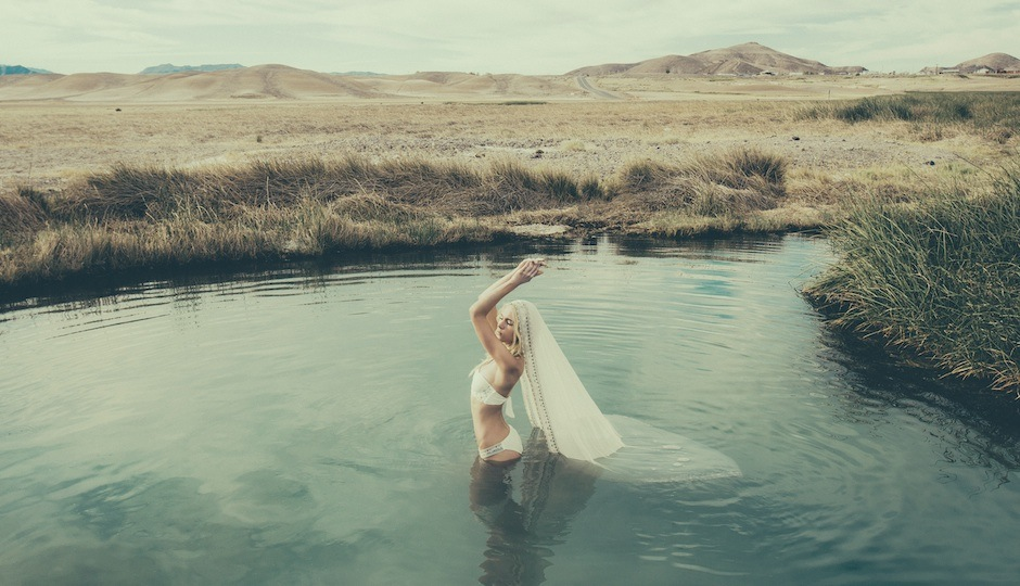 One of two of the bridal bathing suits in Mara Hoffman's first ever bridal collection. Photo by Olivia Malone.