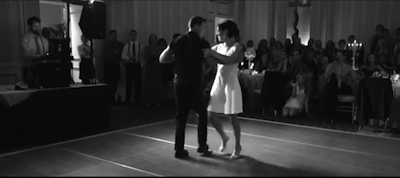Terra and Drake Otto killing the Dirty Dancing dance at their wedding.
