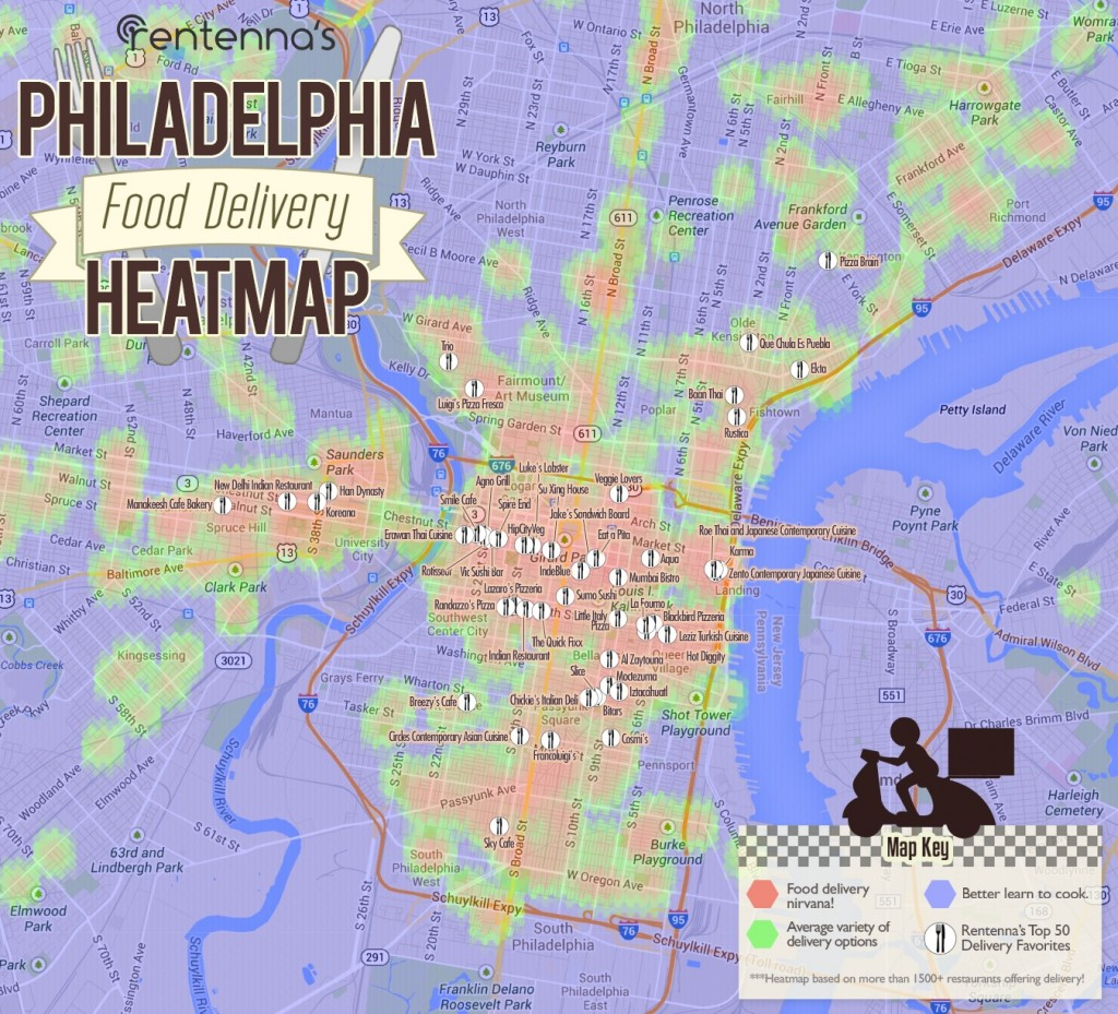 Philadelphia Food Delivery Heatmap By Enna