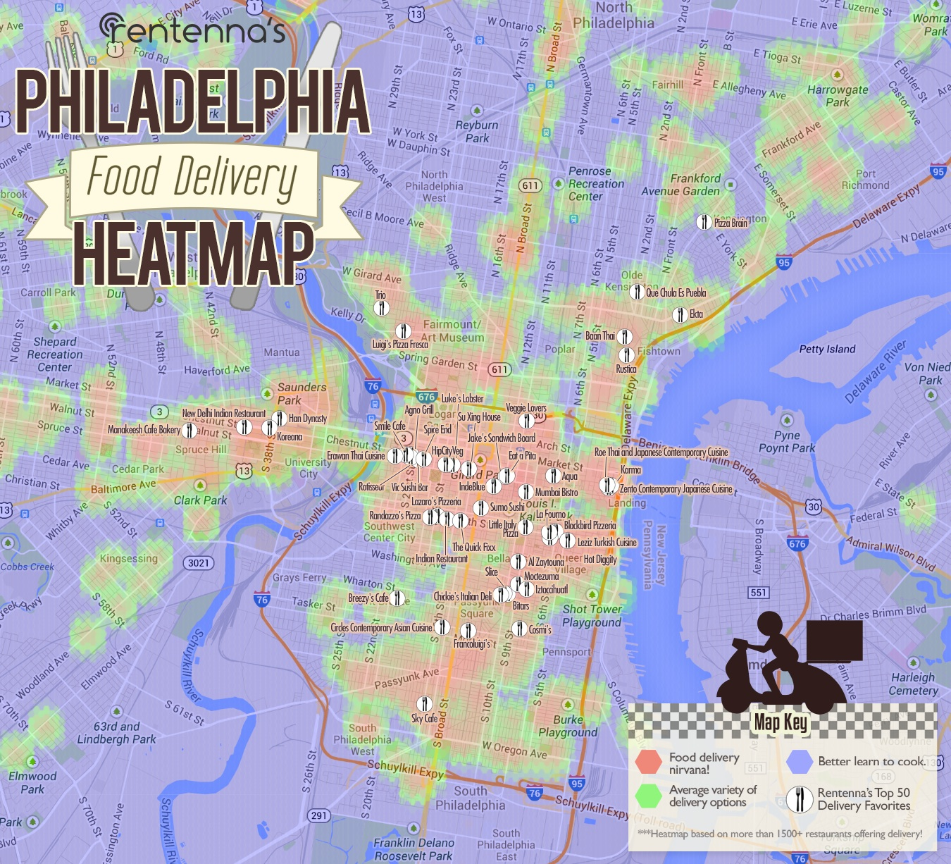 map philadelphia's not a bad place to get food delivered – philadelphiamagazine. map philadelphia's not a bad place to get food delivered