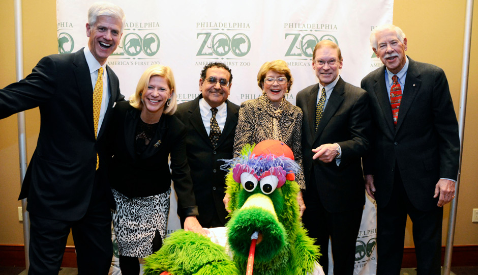 Philadelphia-Zoo-2013-Global-Conservation-Gala-01-Jim-Buck-Cackie-Rogers-Vikram-H-Dewan-Elia-Buck-Jay-H-Calvert-Jr-William-C-Buck-Phillie-Phanatic-940x540