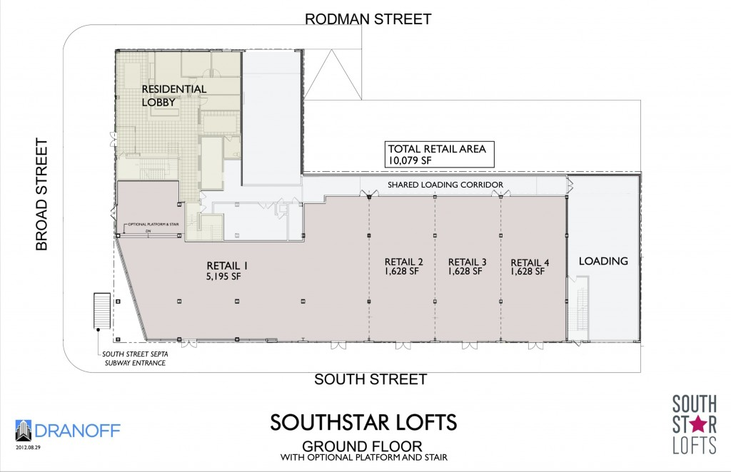 southstar lofts retail plan