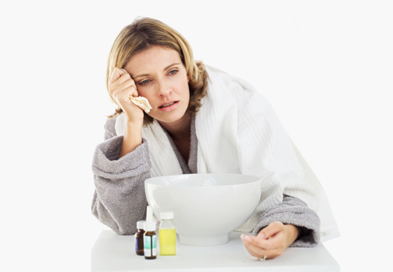 Woman with flu-Blog