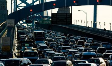 Traffic on the Ben Franklin Bridge