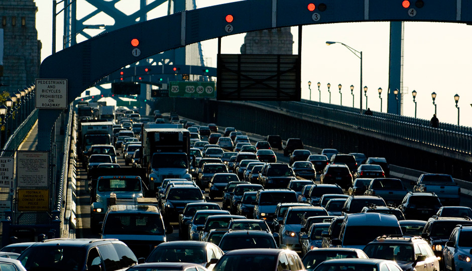 Traffic on the Ben Franklin Bridge