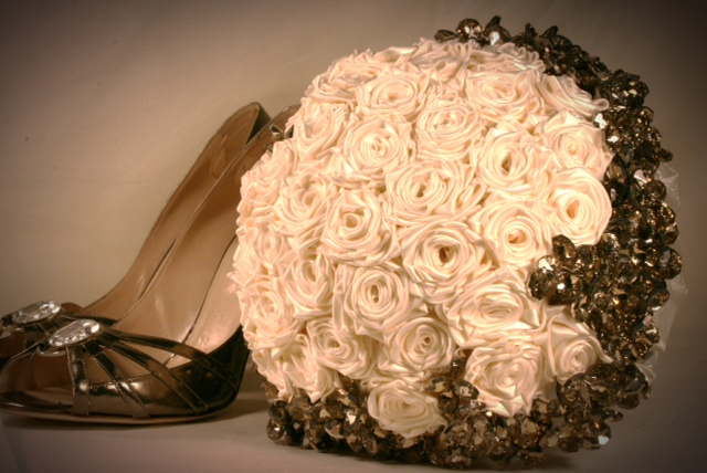 Jewel Crystal And Fabric Bridal Bouquets In Philadelphia