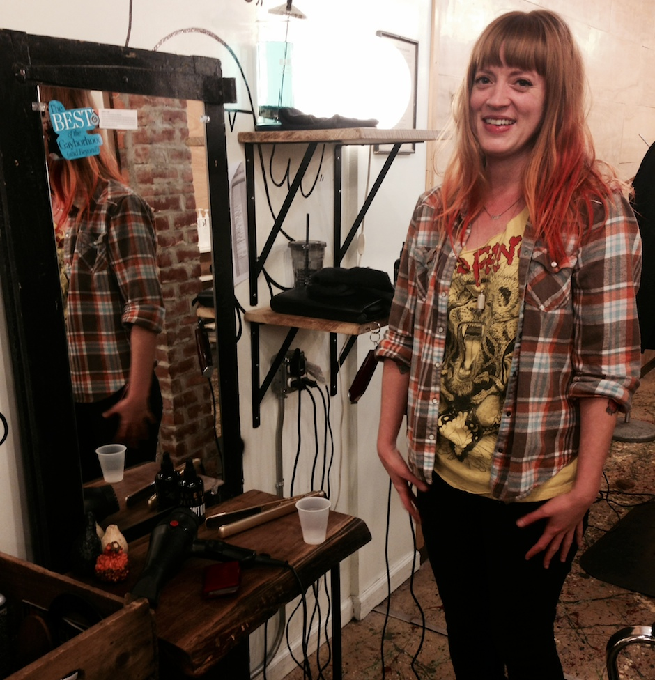 Our choice for Best Stylist, Brooke Dorothy, stands at her station at American Mortals in Wash West.